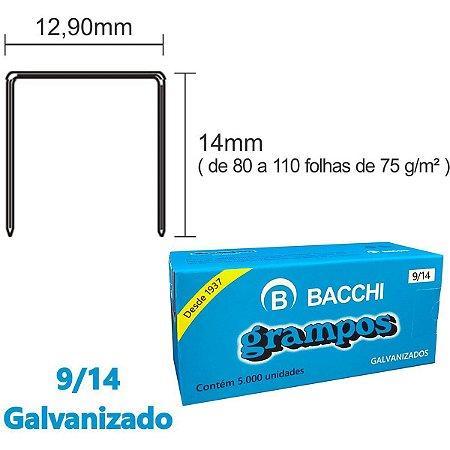 Grampo Para Grampeador 9/14 Galvanizado 5000 Grampos Bacchi