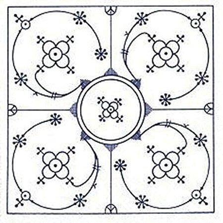 Guardanapo Para Decoupage Decorado Branco Azul 33X33Cm Keramik