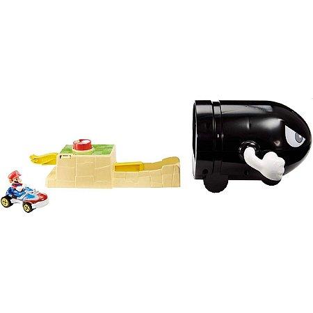Hot Wheels Pista E Acessorio Mario Bros Kart Lancador Bulle Mattel