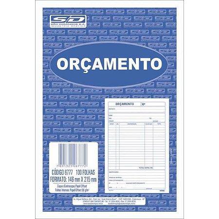 Impresso Administrativo Orcamento 100 Folhas 150X220Mm Sao Domingos