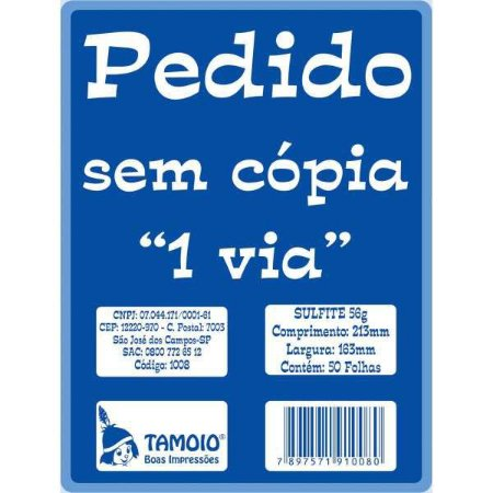 Impresso Talao De Pedido 1/18 1 Via 50 Folhas Tamoio