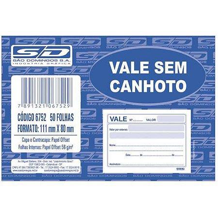 Impresso Vale 100 Folhas Sem Canhoto Sao Domingos