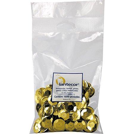 Lantejoula Metalizada Ouro 8Mm C/ 1000 Lantecor