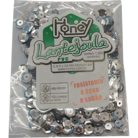 Lantejoula Metalizada Prata N.06 C/1000Unid. Honey