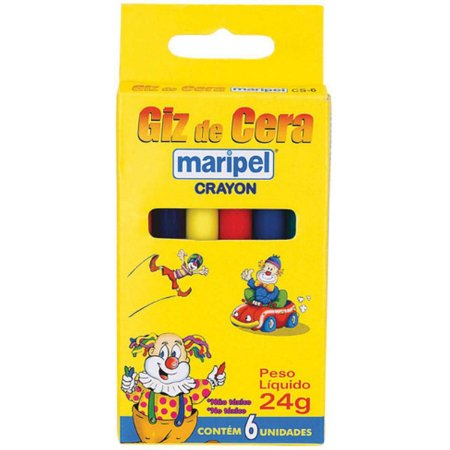 Lapis De Cera Fino 06 Cores Maripel