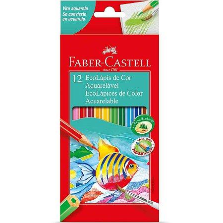 Lapis De Cor Aquarelavel Ecolapis 12 Cores Faber-Castell