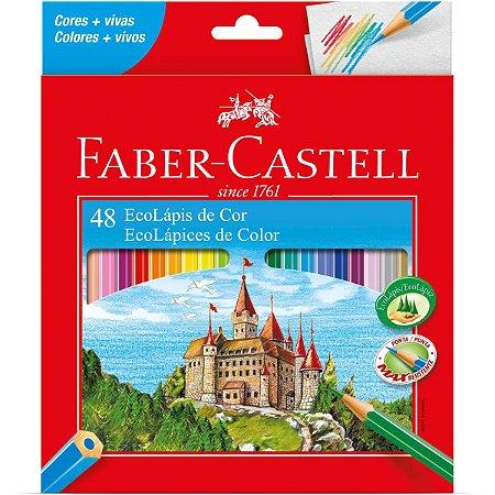Lapis De Cor Sextavado Ecolapis 48 Cores Faber-Castell