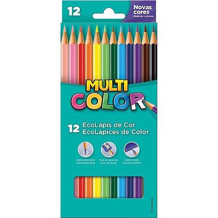 Lapis De Cor Sextavado Multicolor Super Eco 12 Cores Faber-Castell