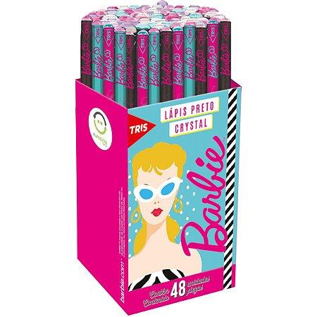Lapis Preto Redondo Decorado Barbie Crystal 4Mod. Sort. Summit