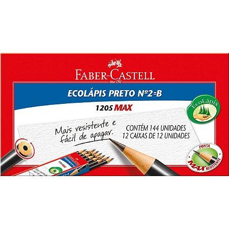 Lapis Preto Redondo Ecolapis 1205 Max N.2 Faber-Castell