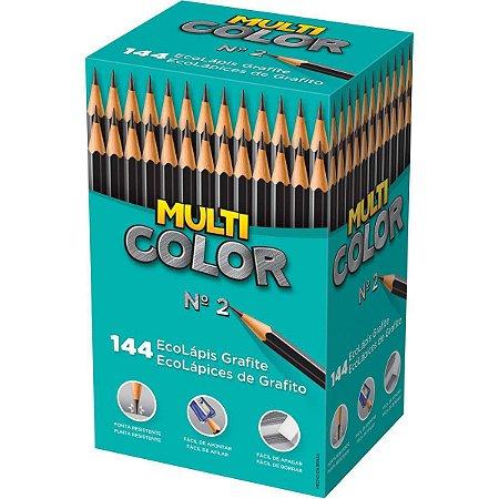 Lapis Preto Redondo Multicolor Super Eco N.2 Faber-Castell