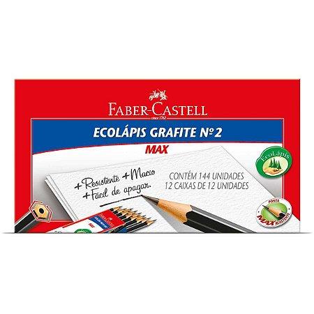 Lapis Preto Sextavado Ecolapis Max N.2 Preto Faber-Castell