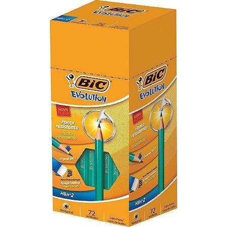 Lapis Preto Sextavado Evolution 2Hb S/borracha Bic