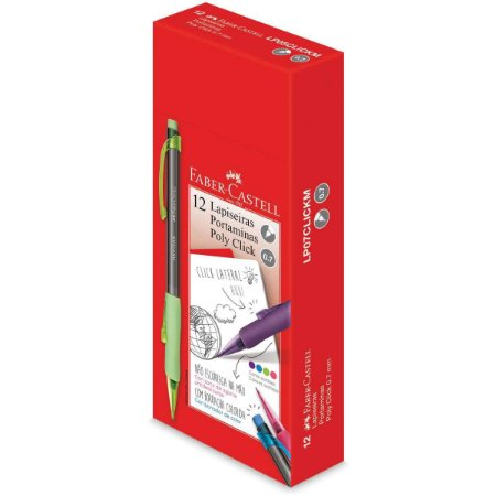 Lapiseira 0.7Mm Poly Click Mix Cores Sort. Faber-Castell
