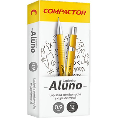 Lapiseira 0.9Mm Aluno 0,9 Metalica Compactor