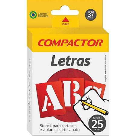 Letra Vazada Letras E Algarismos 25Mm Compactor