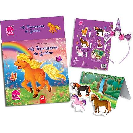 Livro Brinquedo Ilustrado Unicornios Travessuras C/tiara Vale Das Letras
