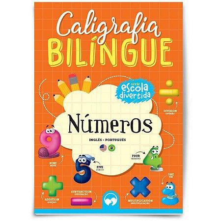 Livro Ensino Caligrafia Bilingue Numeros Vale Das Letras
