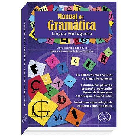 Livro Ensino Manual De Gramatica 384Pgs Vale Das Letras