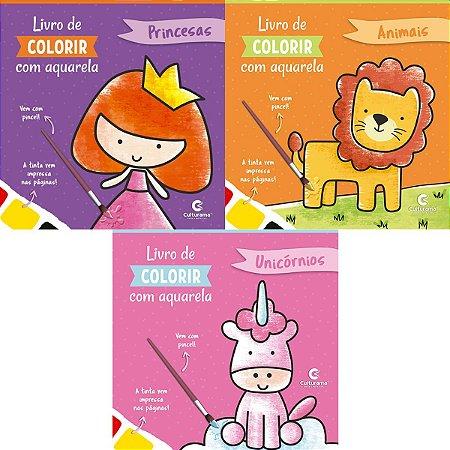 Livro Infantil Colorir Aquarela Magica Sortido Culturama