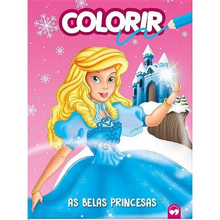 Livro Infantil Colorir As Belas Princesas 16Pgs Vale Das Letras