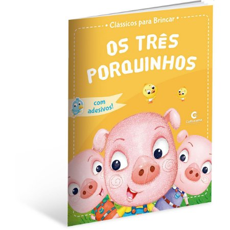 Livro Infantil Colorir Classicos Os Tres Porquinhos Culturama