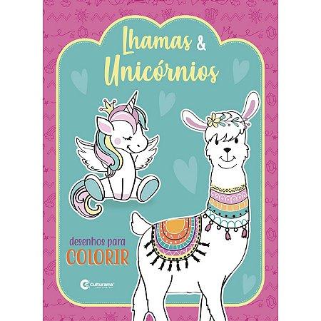 Livro Infantil Colorir Lhamas E Unicornios P/colorir Culturama
