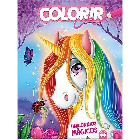 Livro Infantil Colorir Unicornios Magicos 16Pgs Vale Das Letras