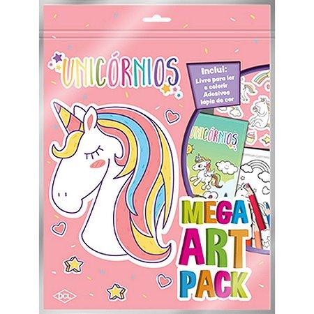 Livro Infantil Colorir Unicornios Super Color Pack Dcl