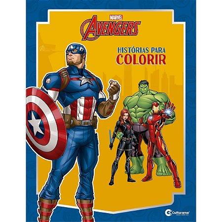 Livro Infantil Colorir Vingadores Historias P/colorir Culturama