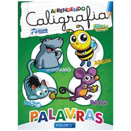 Livro Pedagogico Caligrafia N.2 Palavras 24Pag. 20X27Cm Bicho Esperto