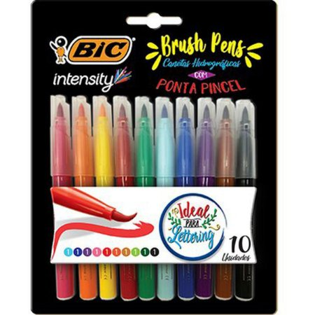 Marcador Artistico Intensity Brush Pens 10 Cores Bic
