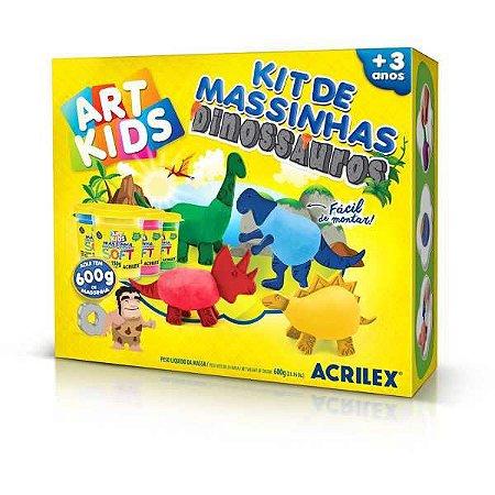 Massa Para Modelar Criativa Art Kids Dinossauro Familia Acrilex