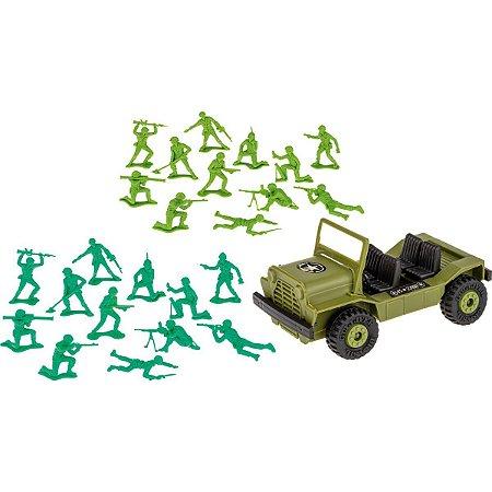 Miniatura Colecionavel Forcas Armadas C/jipe 57Pcs Gulliver