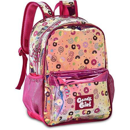 Mochila Escolar Candy Girl Holografica G Clio