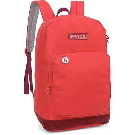 Mochila Escolar Up4You Gd 1Bolso Vermelha Luxcel