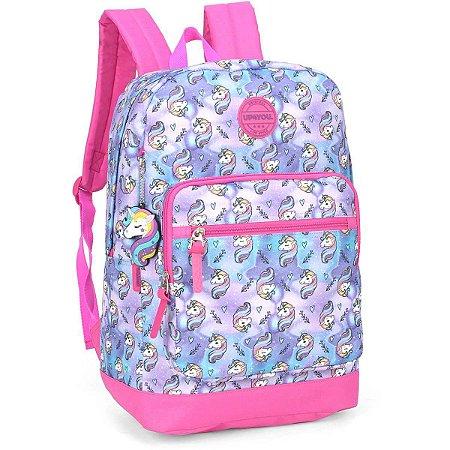 Mochila Escolar Up4You Gd 2Bolsos Pink Luxcel