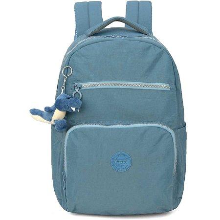 Mochila Escolar Up4You Gd 4Bolsos Azul Crinkle Luxcel
