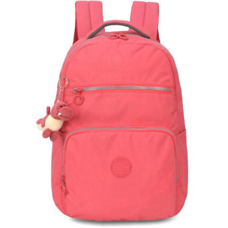 Mochila Escolar Up4You Gd 4Bolsos Salmao Crink Luxcel