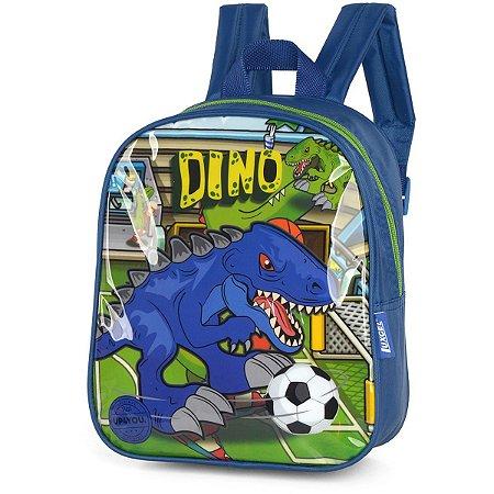Mochila Escolar Up4You Petit Dino Pq Azul Escu Luxcel