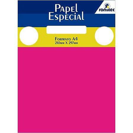 Papel A4 Color Color Mais Pink 180G. Romitec