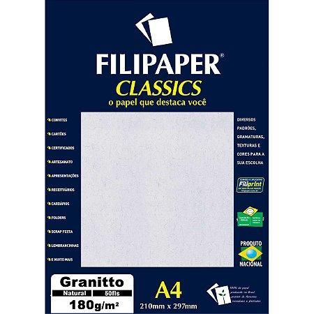 Papel A4 Granito Natural 180G. Filiperson
