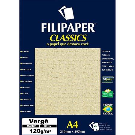 Papel A4 Verge Marfim 120G. Filiperson