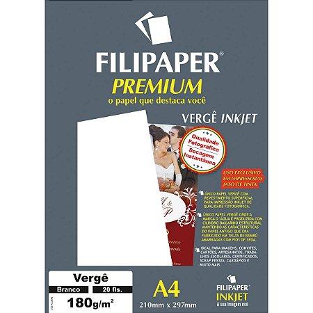 Papel A4 Verge Premium Branco 180G. Filiperson