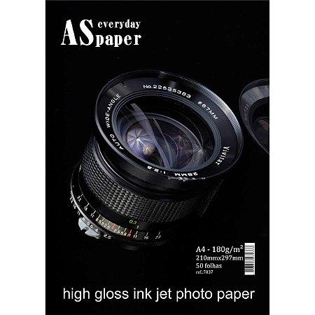 Papel Fotografico Inkjet A4 Gloss Everyday Paper 180G. Usa Folien