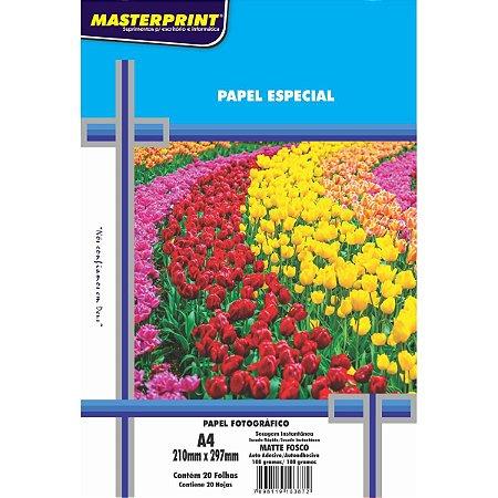 Papel Fotografico Inkjet A4 Matte Adesivo 108G Masterprint