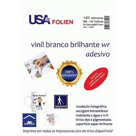 Papel Fotografico Inkjet A4 Vinil Adesivo Branco Usa Folien