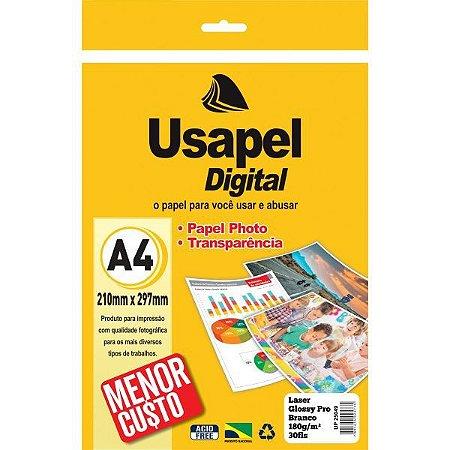 Papel Fotografico Laser Usapel Glossy Prof. A4 180G. Filiperson