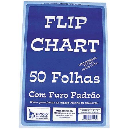 Papel Para Flip-Chart Serrilhado 650X950Mm 75G. 50F. Tamoio