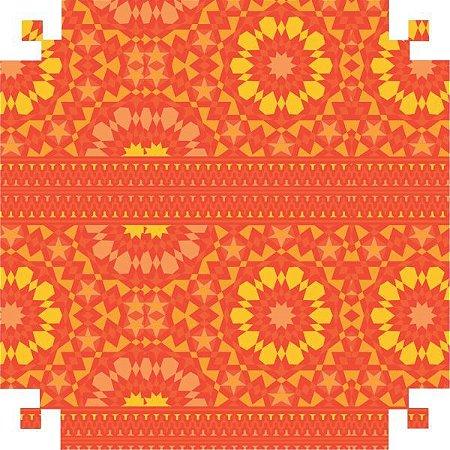 Papel Presente Bobina Couche 60Cm.mod.543 Ilusoes Vermelho V.m.p.